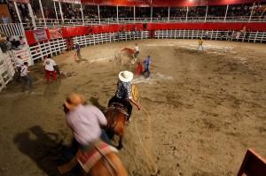 Protecting Fallen bull rider
