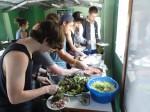 Preparing food at farms in Guadalupe