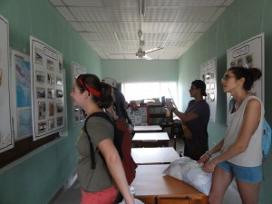 Learning about Pedasí's history at the library