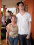 Gio and his host mom Giselda